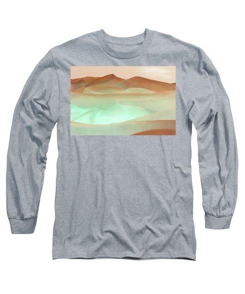 Abstract Terracotta Landscape Long Sleeve T-Shirt by Deborah Smith