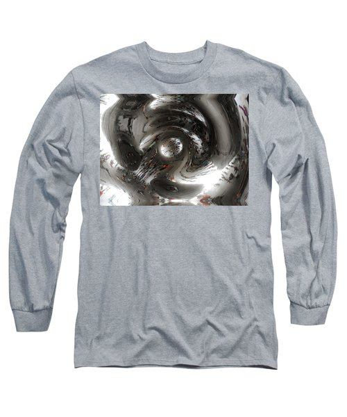 Abstract Underbelly Of The Bean, Chicago Il Long Sleeve T-Shirt