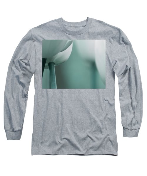Long Sleeve T-Shirt featuring the photograph Abstract Blue White Flowers Photography Online Art Print Shop by Artecco Fine Art Photography