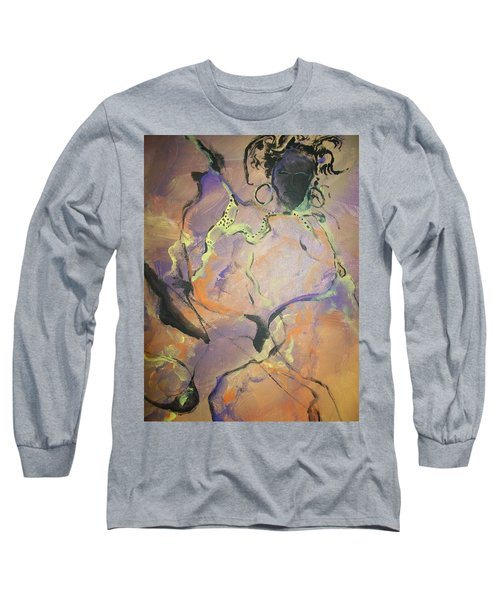 Long Sleeve T-Shirt featuring the painting Abstract Woman by Raymond Doward