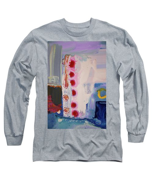 abstraction, fire in the Chakras Long Sleeve T-Shirt by Amara Dacer