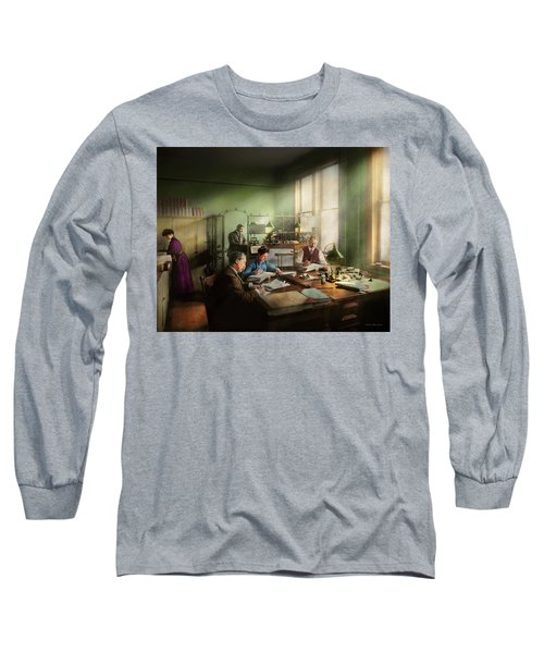 Long Sleeve T-Shirt featuring the photograph Accountant - The- Bookkeeping Dept 1902 by Mike Savad