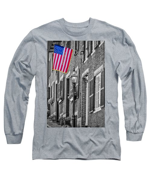 Long Sleeve T-Shirt featuring the photograph Acorn Street Details Sc by Susan Candelario