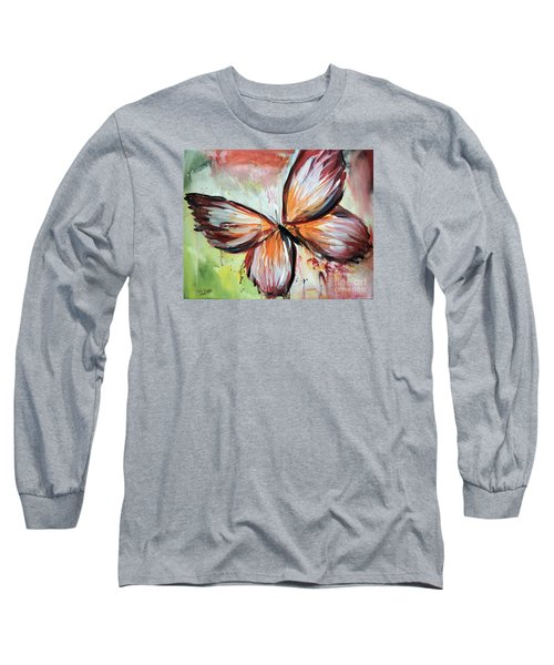 Acrylic Butterfly Long Sleeve T-Shirt by Tom Riggs