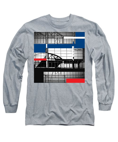 Long Sleeve T-Shirt featuring the mixed media Acura Study by Andrew Drozdowicz