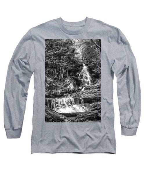 Adams Falls - 8867 Long Sleeve T-Shirt by G L Sarti