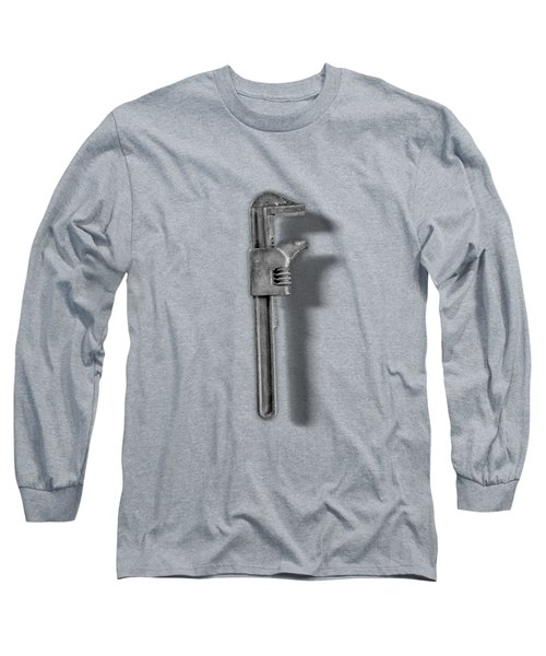 Adjustable Wrench Backside In Bw Long Sleeve T-Shirt