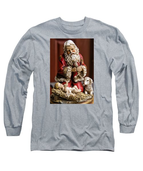 Adoring Santa Long Sleeve T-Shirt by Bonnie Barry