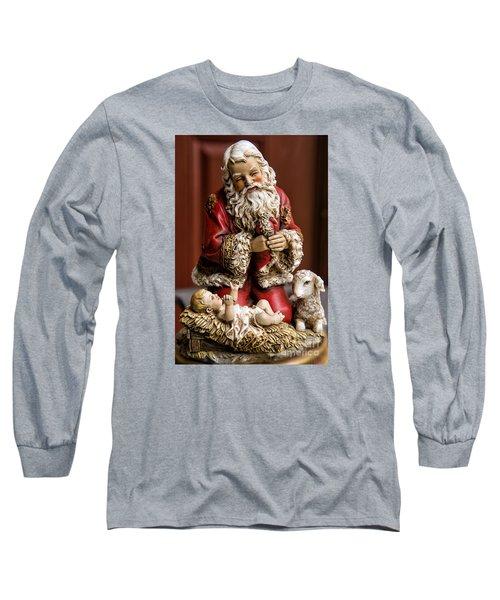 Adoring Santa Long Sleeve T-Shirt