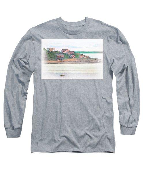 Adrift On The Bay At Sunset Long Sleeve T-Shirt