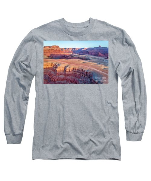 aerial view of Colorado RIver canyon Long Sleeve T-Shirt
