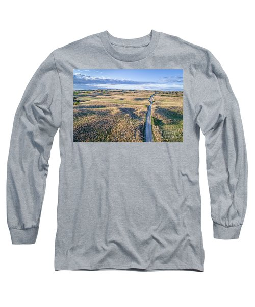 aerial view of Nebraska Sandhills  Long Sleeve T-Shirt