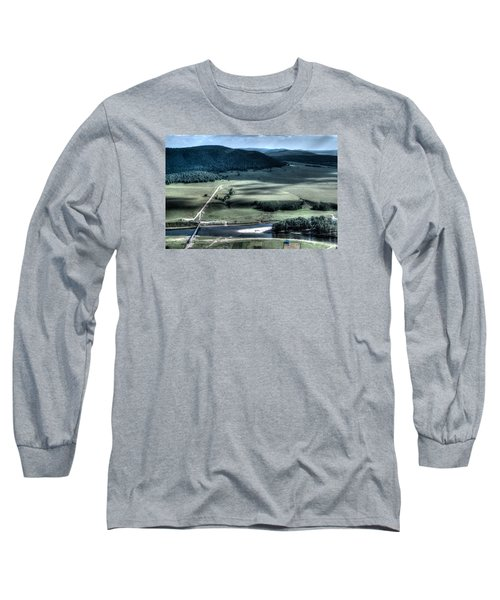 Aerial View Of Rolling Russian Hills Long Sleeve T-Shirt by John Williams