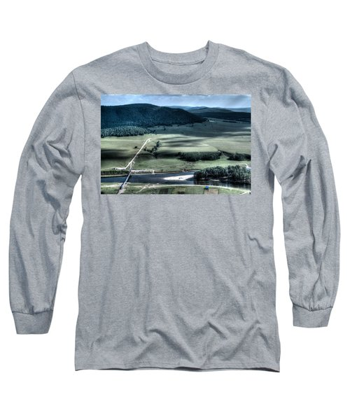 Aerial View Of Rolling Russian Hills Long Sleeve T-Shirt