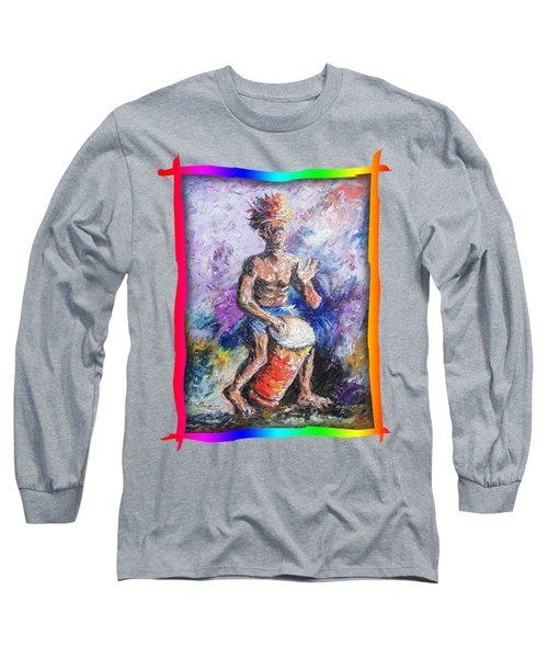 African Drummer Long Sleeve T-Shirt