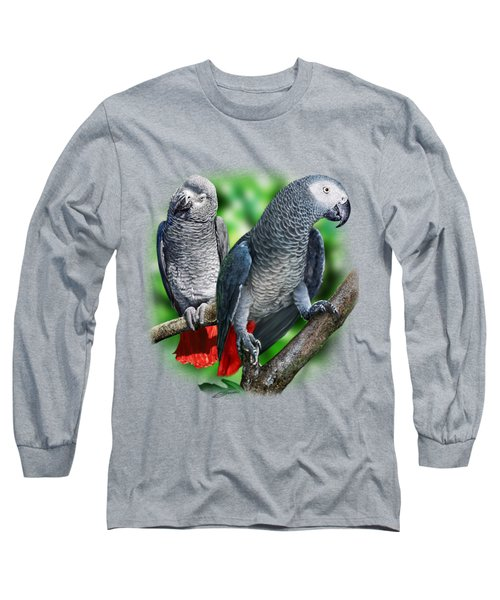 African Grey Parrots A Long Sleeve T-Shirt