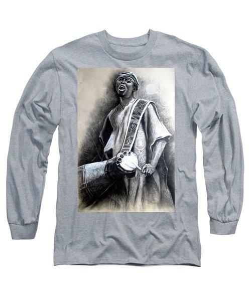African Rythm Long Sleeve T-Shirt by Bankole Abe