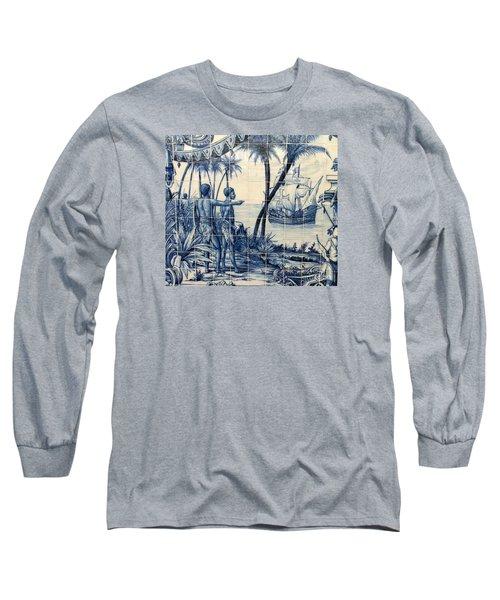 African Tile Art Long Sleeve T-Shirt by John Potts