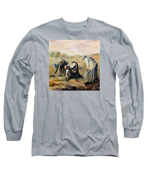 after Jean-Francois Millet  The Gleaners Long Sleeve T-Shirt
