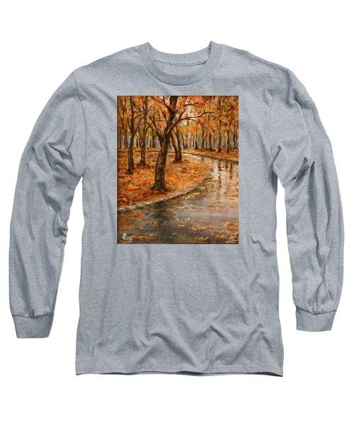 After Rain,walk In The Central Park Long Sleeve T-Shirt by Vali Irina Ciobanu