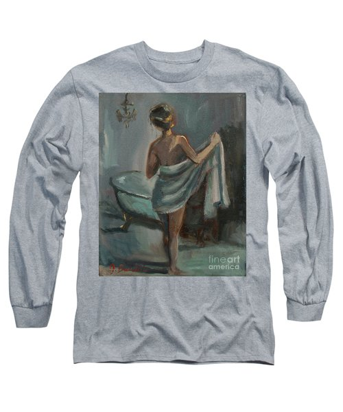 Long Sleeve T-Shirt featuring the painting After The Bath by Jennifer Beaudet