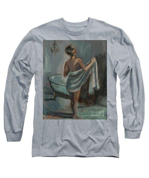 After The Bath Long Sleeve T-Shirt by Jennifer Beaudet