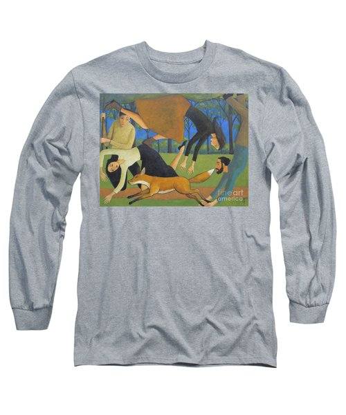 Long Sleeve T-Shirt featuring the painting After The Fox by Glenn Quist