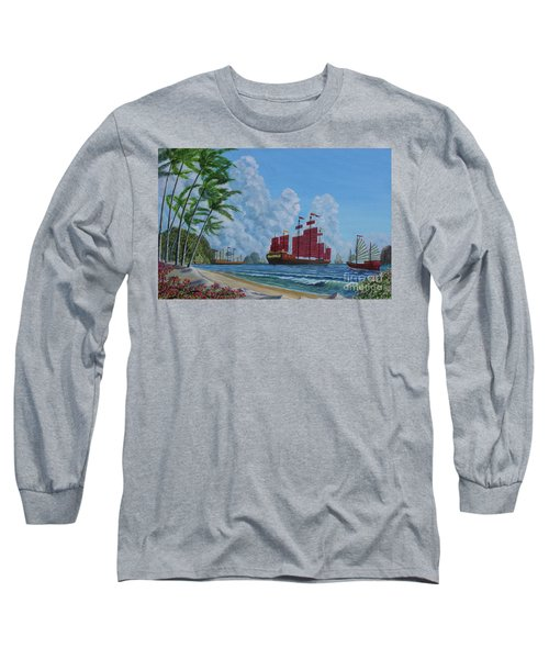 Long Sleeve T-Shirt featuring the painting After The Storm by Anthony Lyon