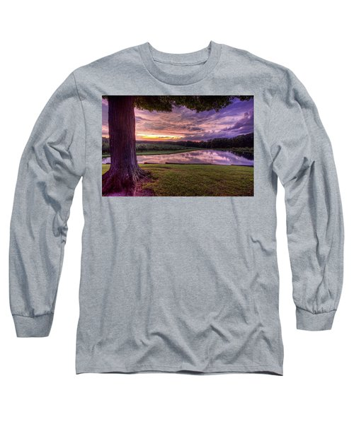 Long Sleeve T-Shirt featuring the photograph After The Storm At Mapleside Farms by Brent Durken