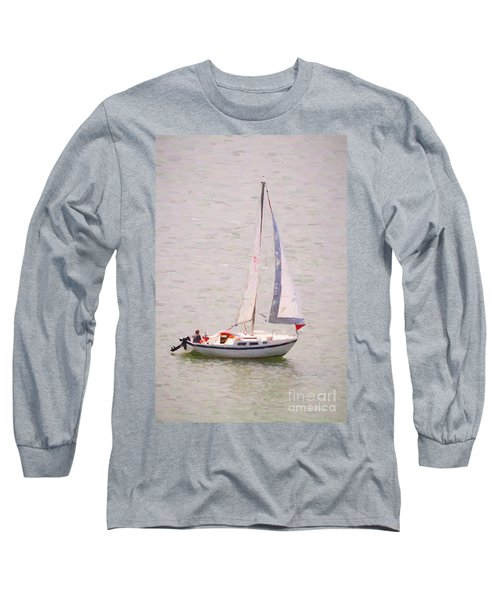 Long Sleeve T-Shirt featuring the photograph Afternoon Sail by James BO Insogna