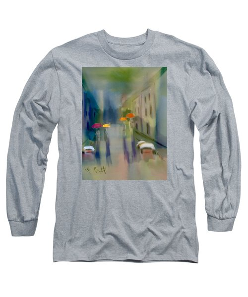 Afternoon Shower In Old San Juan Long Sleeve T-Shirt by Frank Bright
