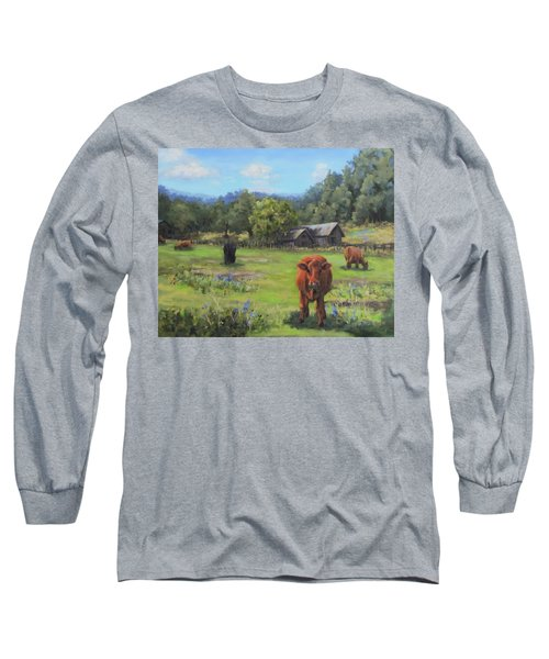 Long Sleeve T-Shirt featuring the painting Afternoon Snack by Karen Ilari