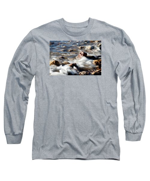 Long Sleeve T-Shirt featuring the photograph Against The Elaments. by Gary Bridger