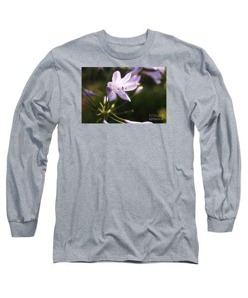 Agapanthus Long Sleeve T-Shirt by Cassandra Buckley