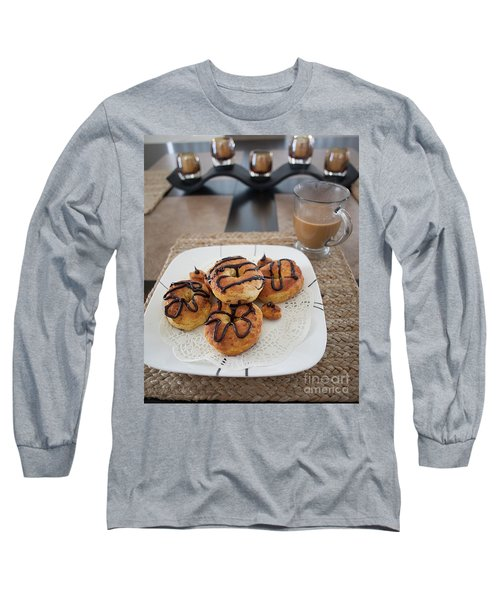 Long Sleeve T-Shirt featuring the photograph Air Fried  Donuts by Anne Rodkin