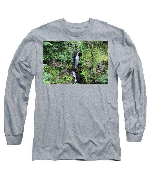 Aira Force Waterfall, Aira Beck, Ullswater, Lake District Long Sleeve T-Shirt