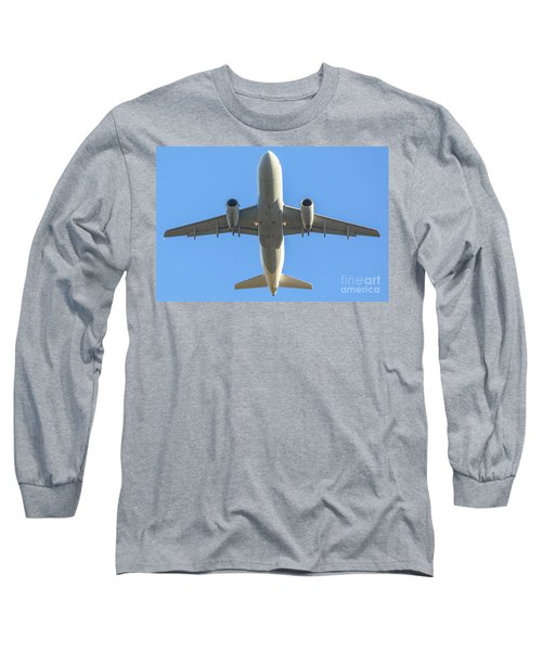Airplane Isolated In The Sky Long Sleeve T-Shirt