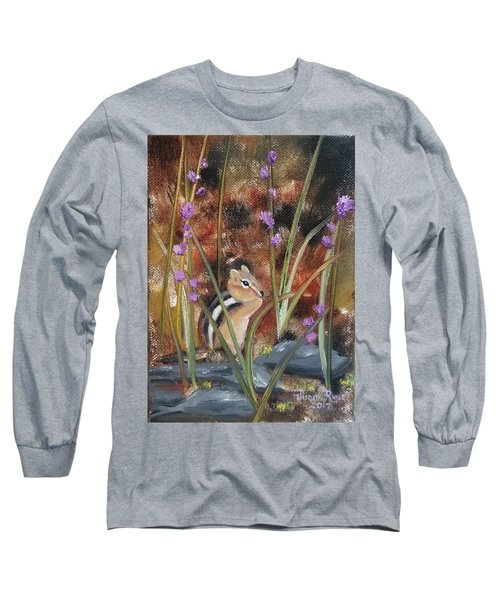Long Sleeve T-Shirt featuring the painting Al Fresco Dining With A View by Judith Rhue