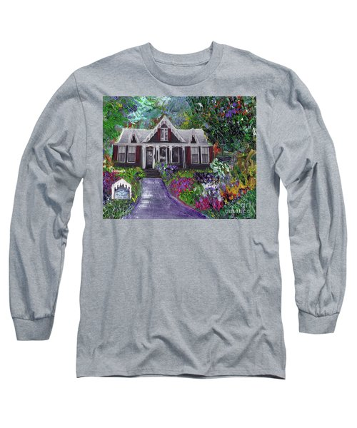 Alameda 1854 Gothic Revival - The Webster House Long Sleeve T-Shirt by Linda Weinstock
