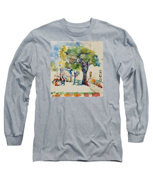 Alamo Plaza Long Sleeve T-Shirt by Becky Kim