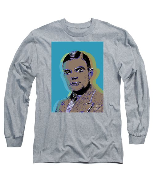 Long Sleeve T-Shirt featuring the digital art Alan Turing by Jean luc Comperat