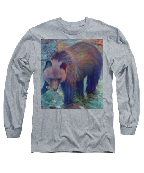 Alaska Bear  Long Sleeve T-Shirt by Julianne Ososke