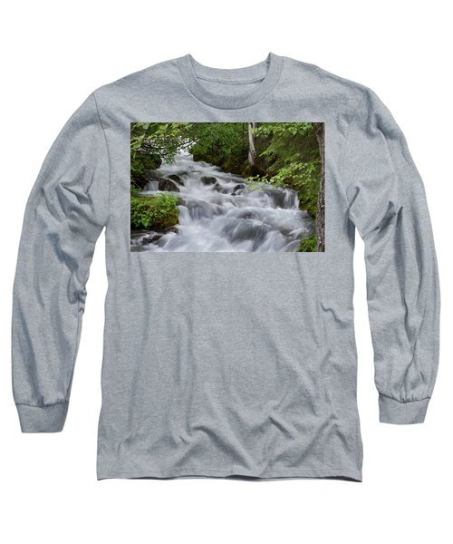 Alaska Waterfall Picture  Long Sleeve T-Shirt