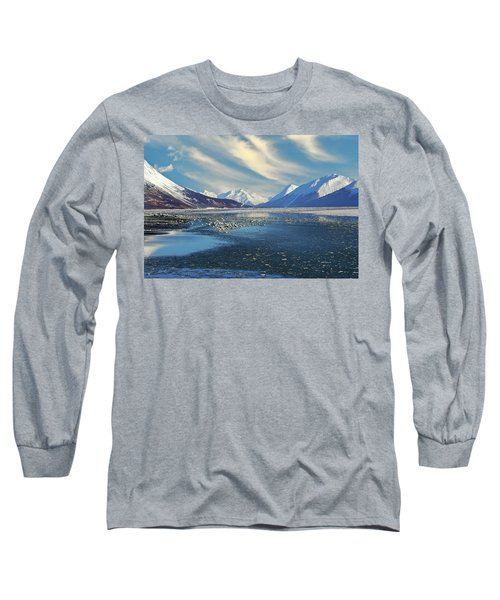 Alaskan Winter Landscape Long Sleeve T-Shirt