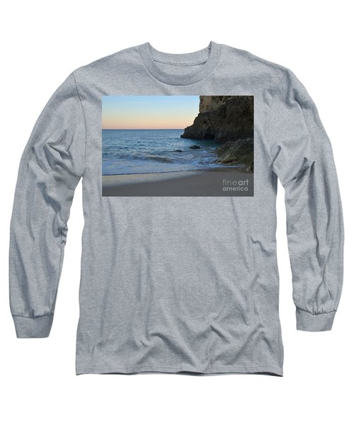 Albandeira Beach Welcoming Twilight 2 Long Sleeve T-Shirt by Angelo DeVal