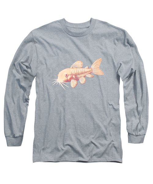 Albino Cory Catfish Long Sleeve T-Shirt by Lucy Niedbala