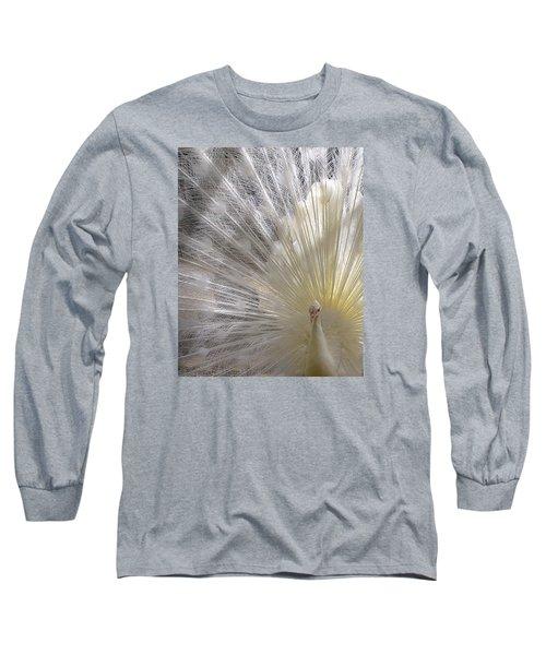 A Leucistic Peacock Long Sleeve T-Shirt