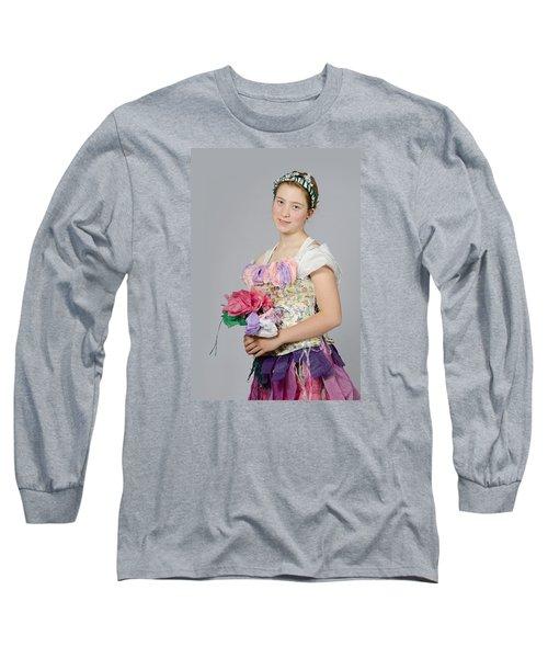 Alegra In Paper Floral Dress Long Sleeve T-Shirt