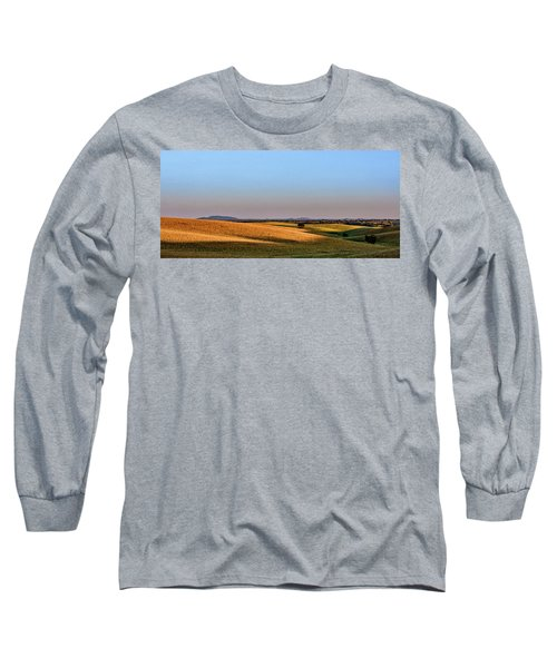 Long Sleeve T-Shirt featuring the photograph Alentejo Fields by Marion McCristall