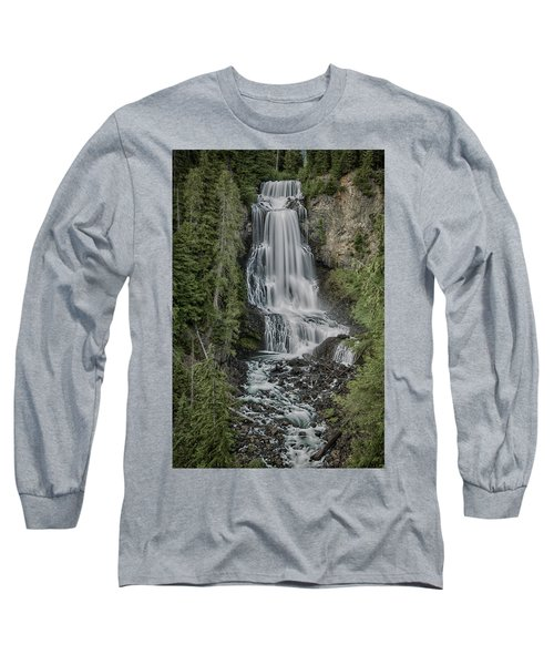 Long Sleeve T-Shirt featuring the photograph Alexander Falls by Stephen Stookey